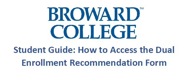 Broward College Dual Enrollment