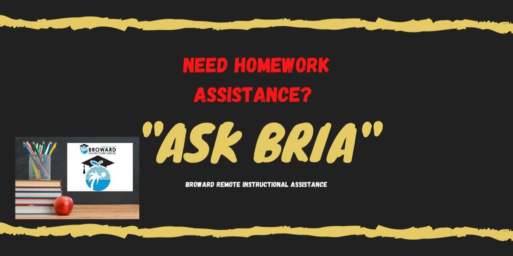 Need Assistance With Schoolwork- Ask BRIA