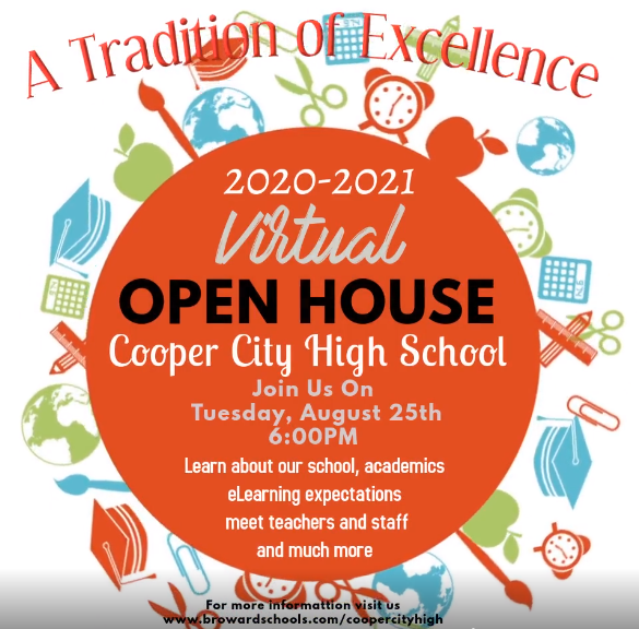 Virtual Open House - Tuesday Aug 25th, 6:00 pm