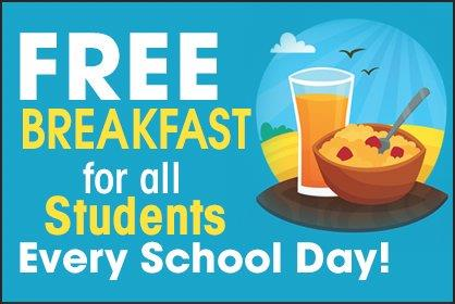 Free Breakfast for all Students!
