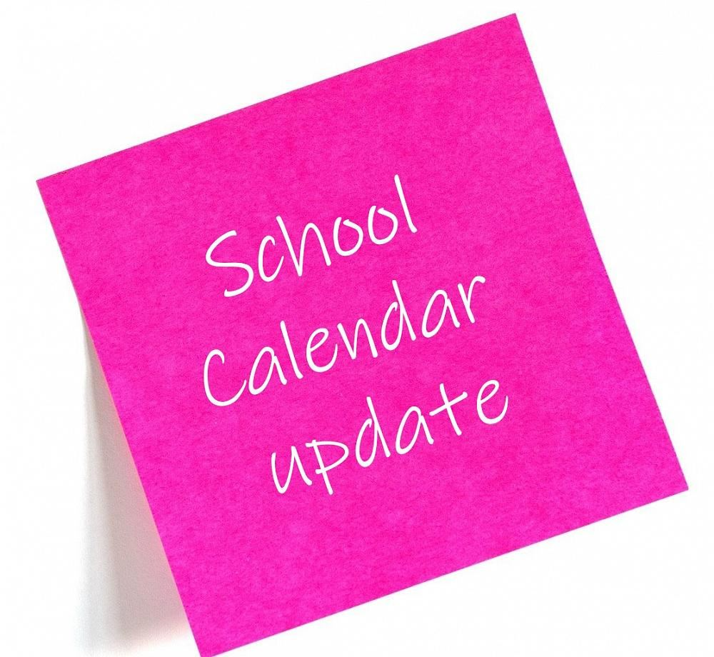 Calendar Update - Professional Study Days