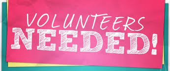 Words Volunteer Opportunity on red background