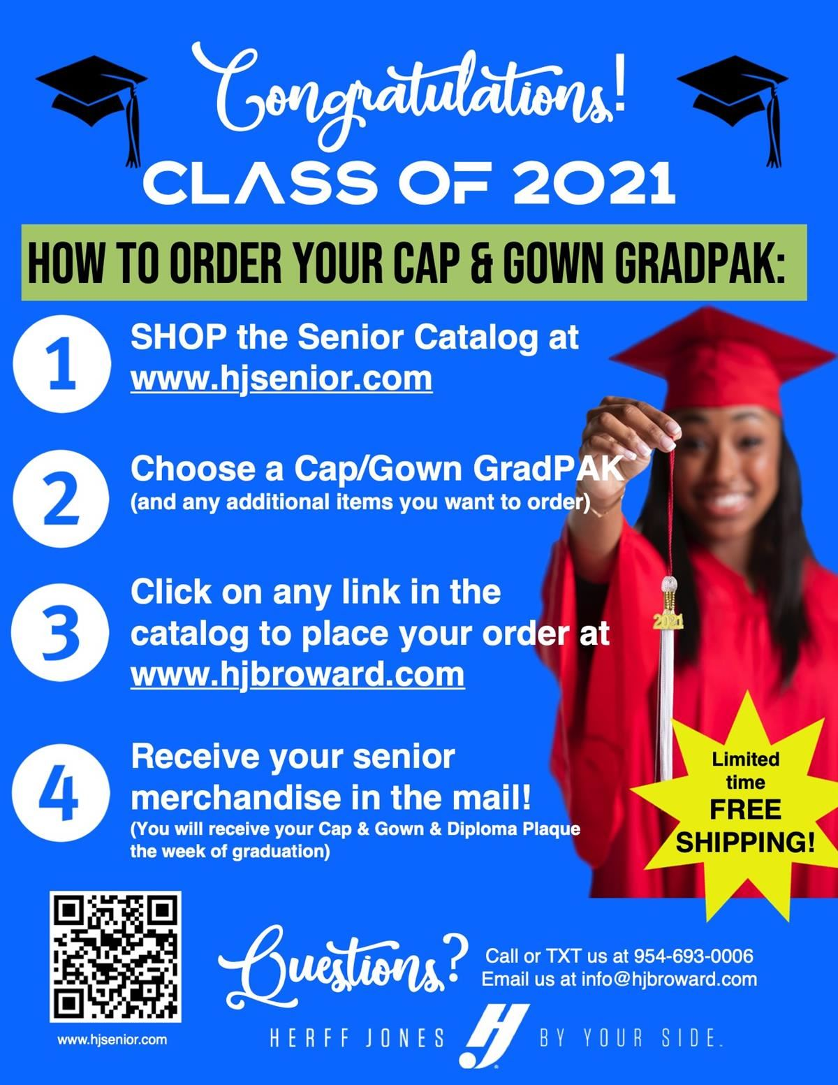 Cap and Gown flyer