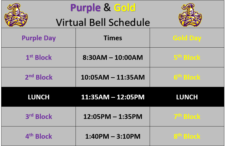 Thumbnail of Virtual Bell Schedule