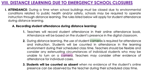 Distance Learning Due to Emergency School Closures