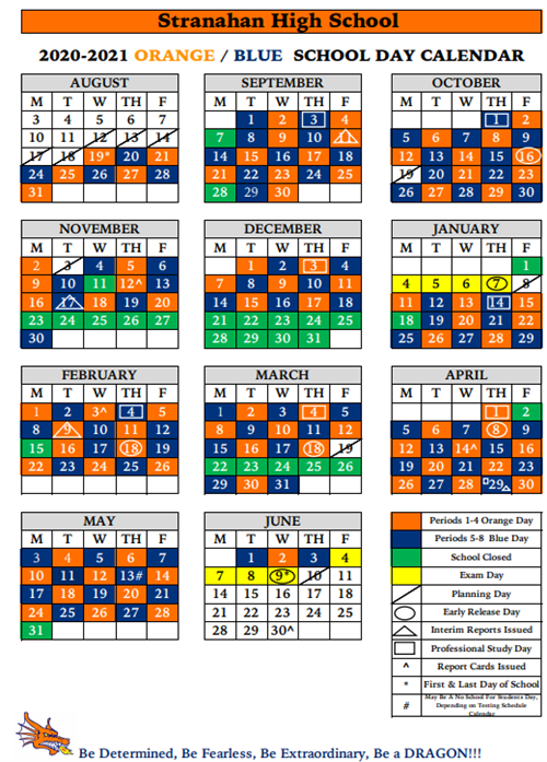 Flanagan High School Calendar 2021 School Calendar, Bell Schedule, ER/PSD Schedule 2020 21