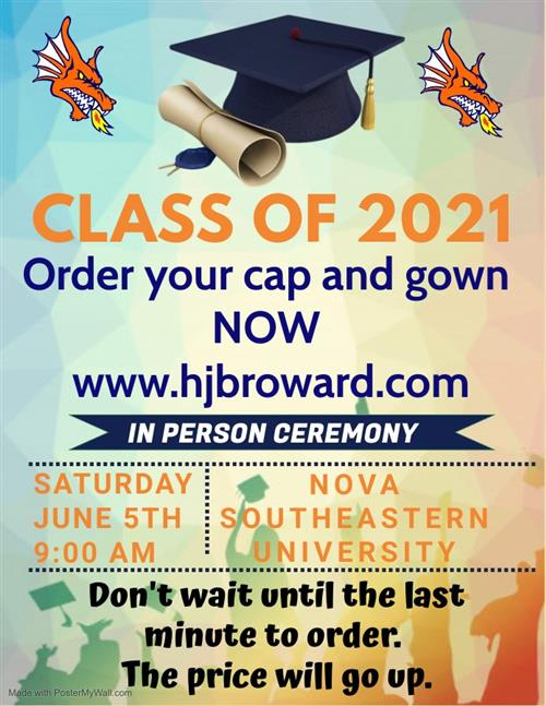 Order your Cap and Gown Now