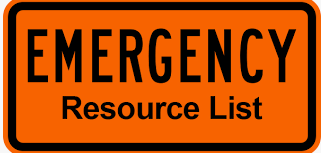 Emergency Resource Lists