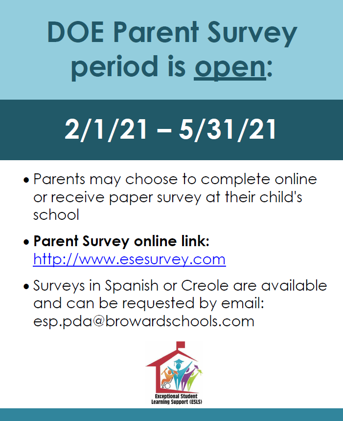 ESE parent survey flyer