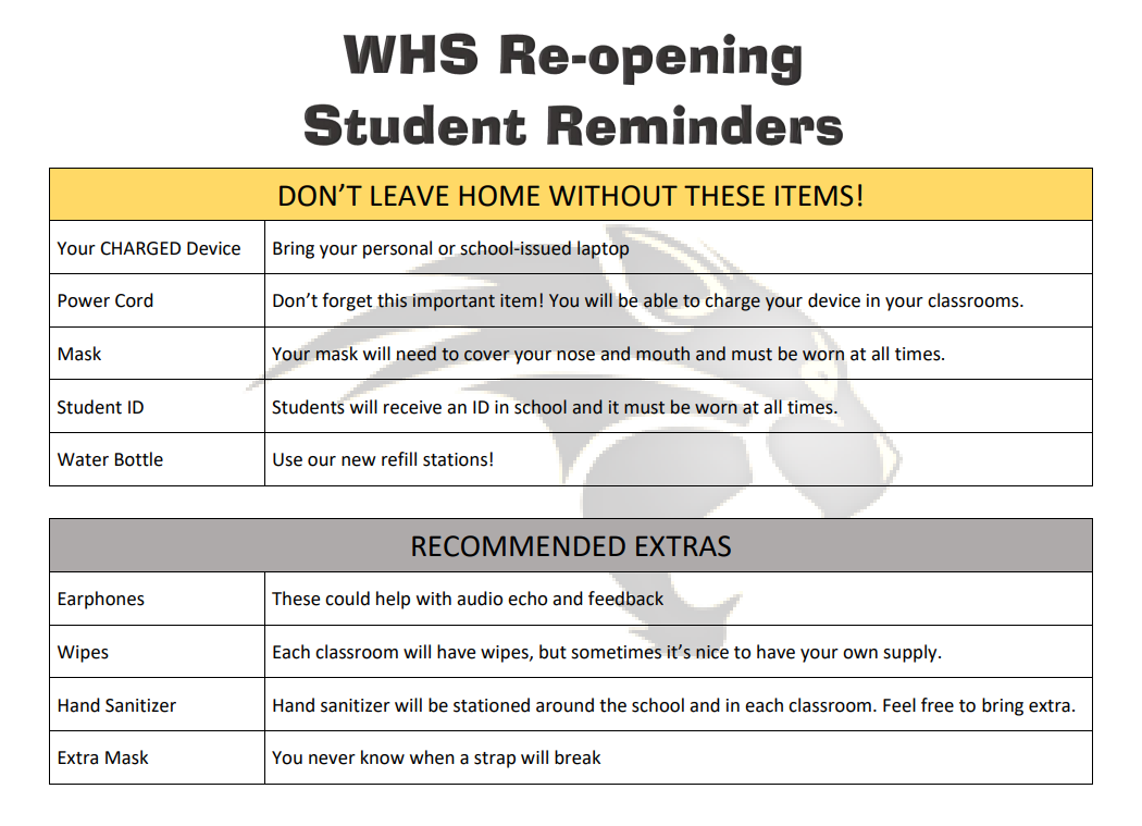 reopening student reminders