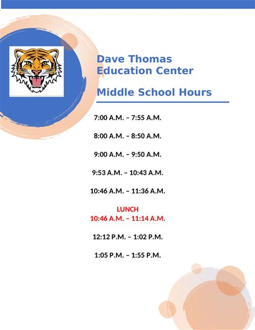 Middle School Hours
