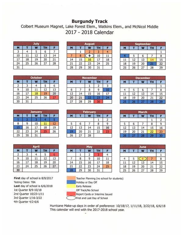 Seminole County School Calendar 2017 2018 Bazga