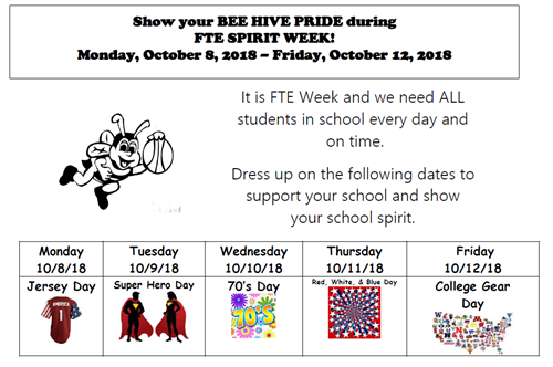 FTE Spirit Week Flyer