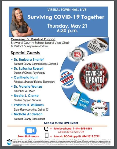 Surviving Covid Flyer Image