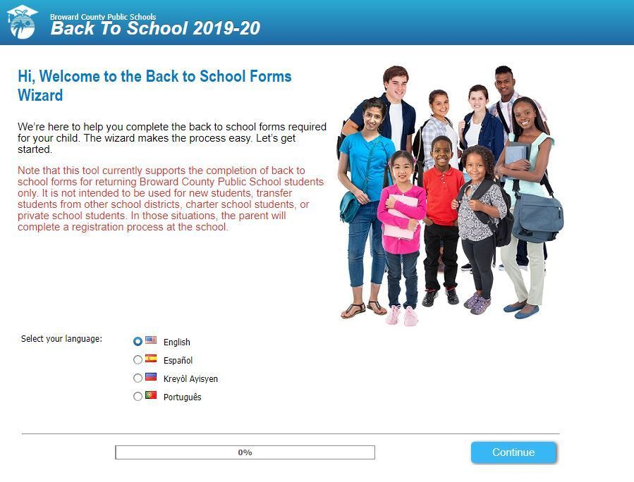 online school forms