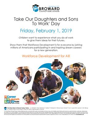 Take Our Daughters and Sons to Work Day flyer