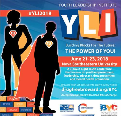 Youth Leadership Institute June 21-23, 2018 at Nova Southeastern Univeristy