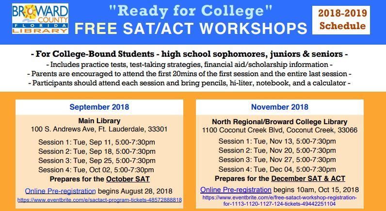 FREE SAT/ACT WORKSHOPS