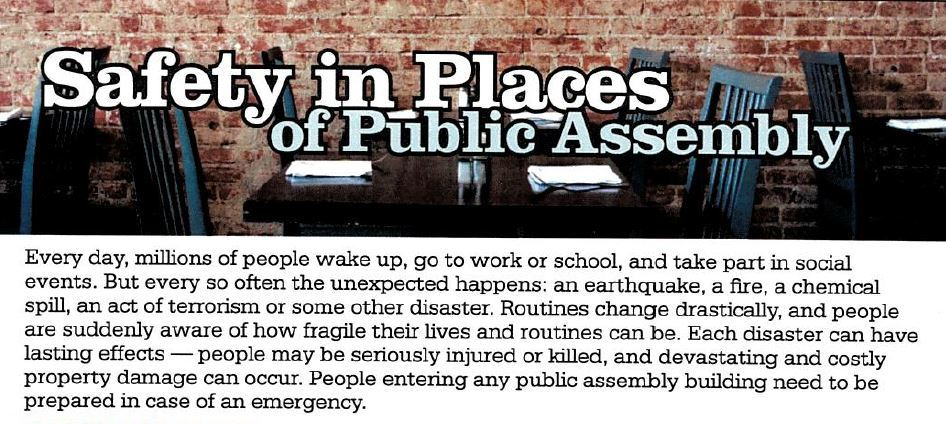 Safety In Places Of Public Assembly