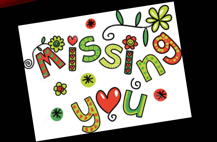 missing you image for students