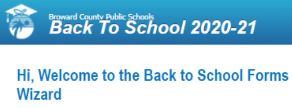 Have you filled out your BACK TO SCHOOL FORMS?