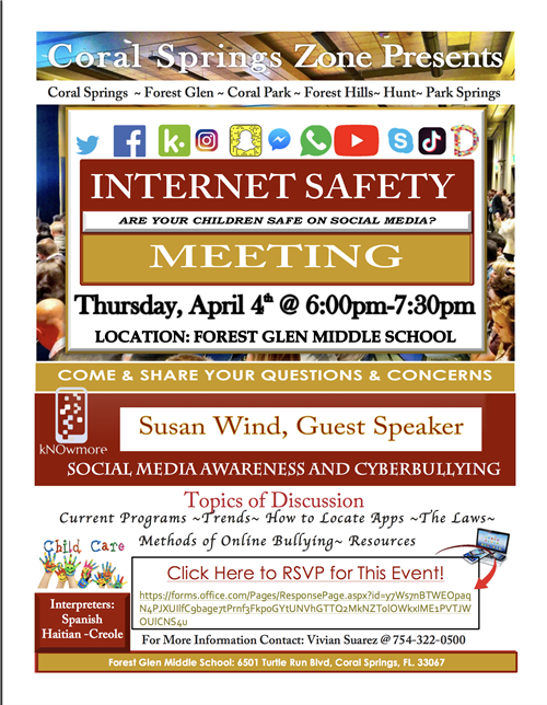 Internet Safety Flyer for Guest Speaker Susan Wind