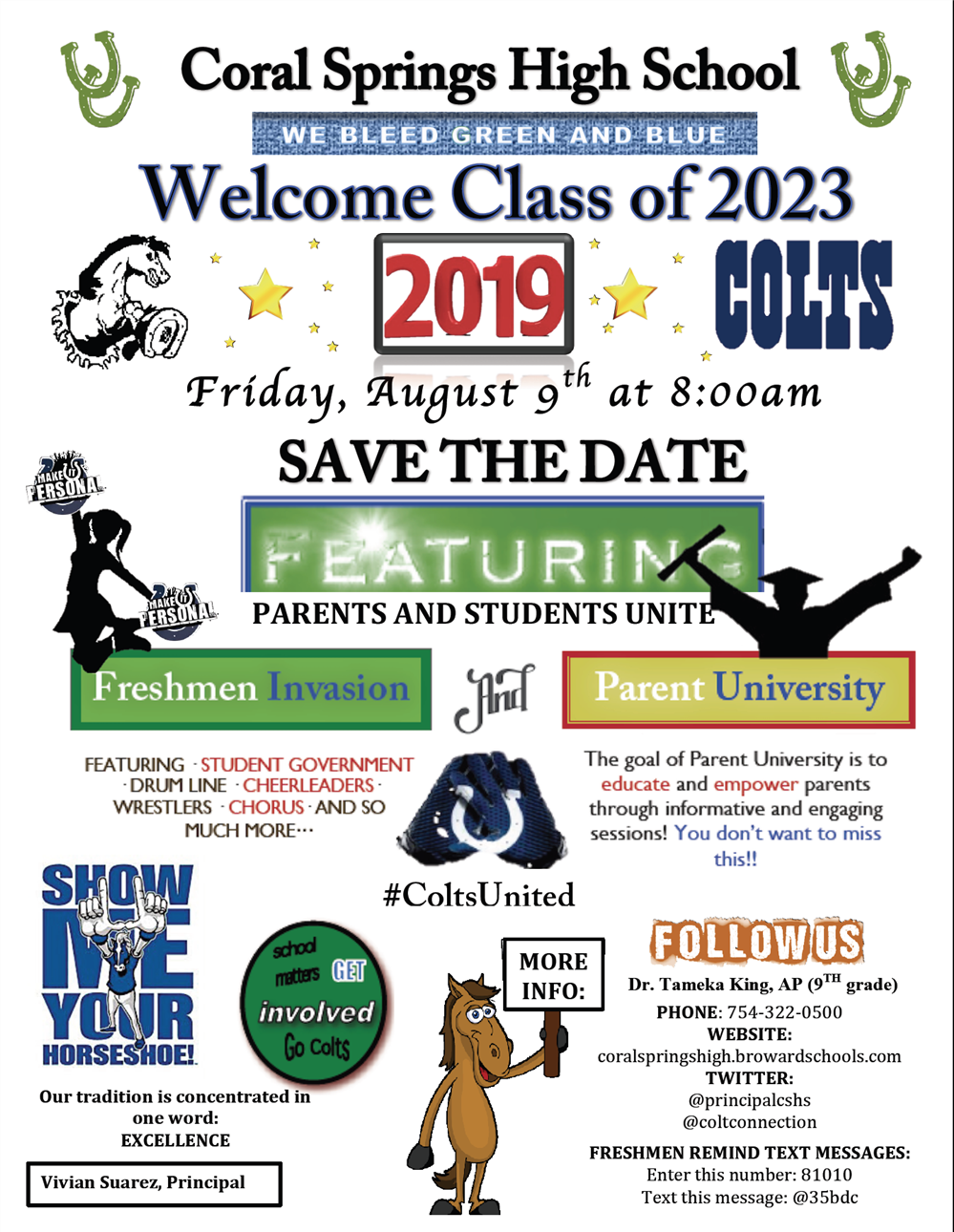 Freshmen Invasion/Parent University Flyer