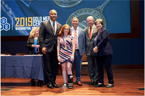 Hannah Komroff Earns Congressional Award Gold Medal