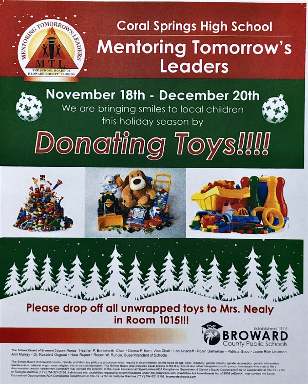 Mentoring Tomorrow's Leaders: Toy Donation Drive