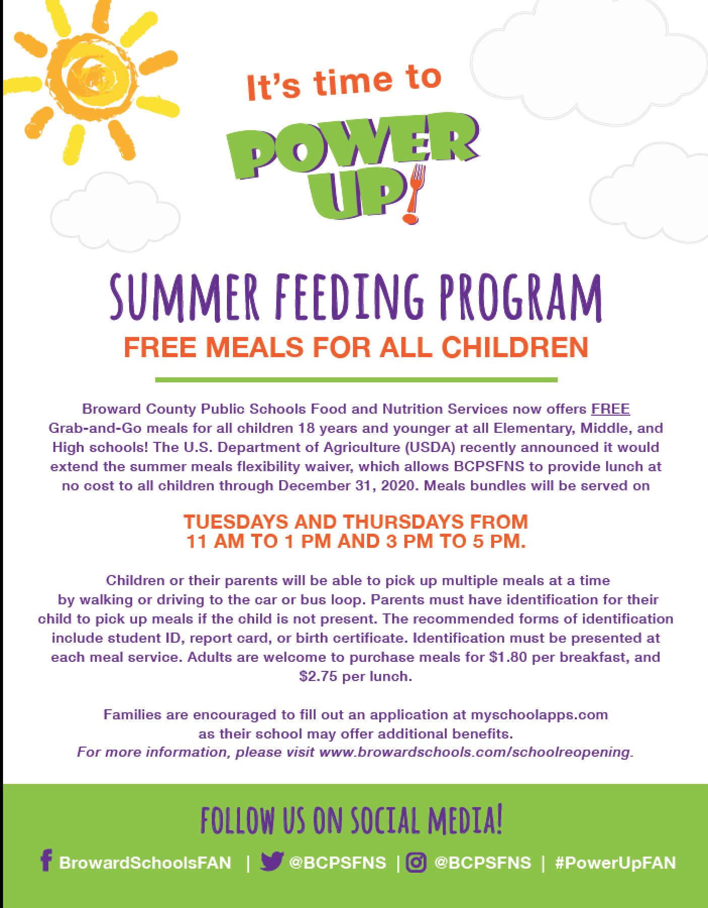 Summer Feeding Program: FREE MEAL FOR ALL CHILDREN