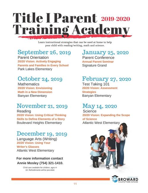 Title I Parent Training Academy