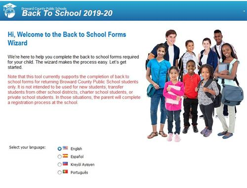 Back to School Form page 1