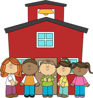 schoolhouse with children