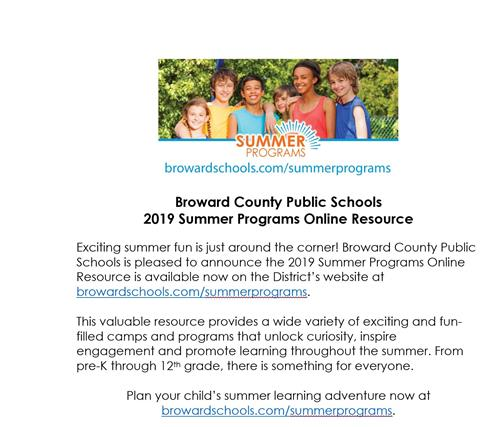 BCPS Summer Programs Online Resource