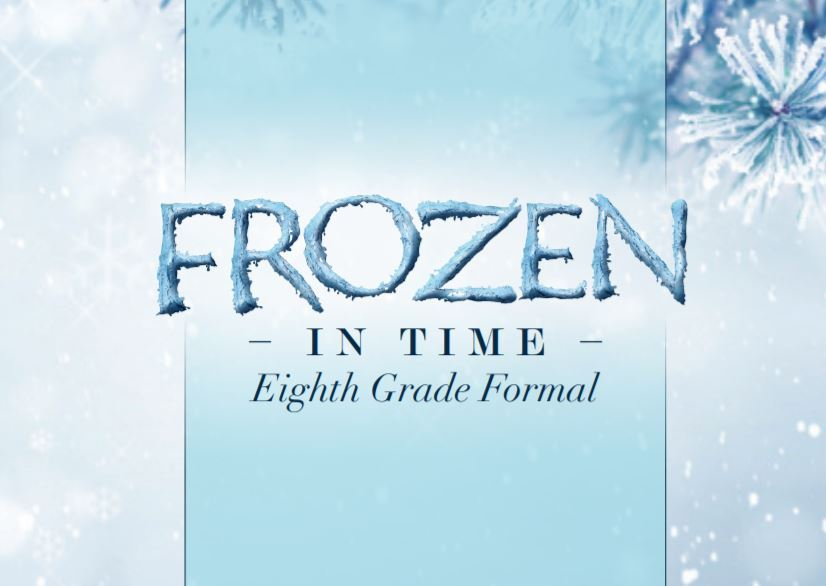 8th Grade Frozen In Time Dance Invitation