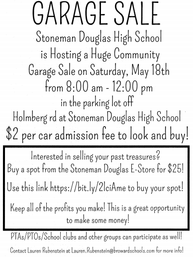 MSD Garage Sale May 18th from 8am - 12noon