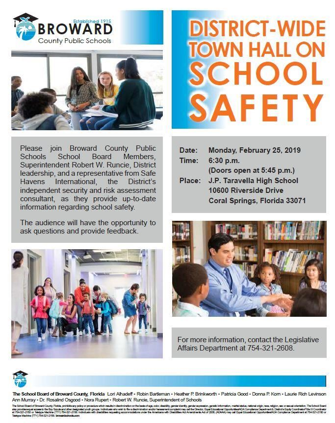 District-Wide Town Hall on School Safety