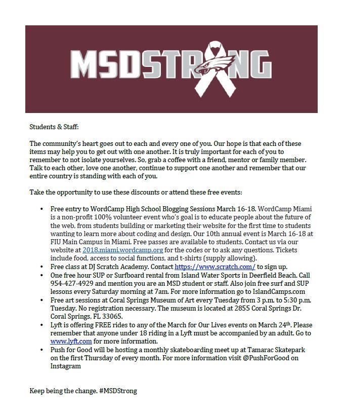 MSD Strong Donations