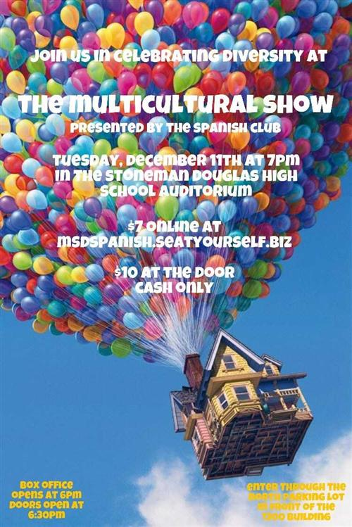 flyer for multicultural show