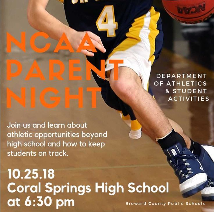 NCAA Parent Night 10/25 @ Coral Springs HS