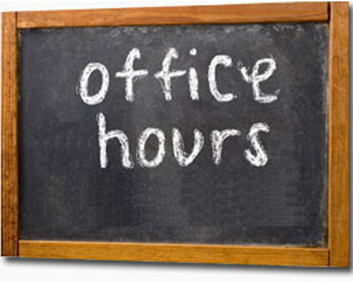 Office Hours for Instructional Staff Starting March 30th, 2020