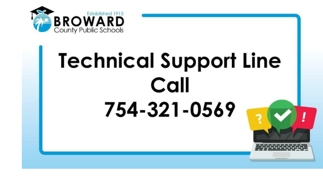 Broward Technical Support Line 754-321-0569