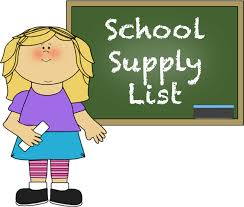 Suggested School Supply List SY 2018-2019
