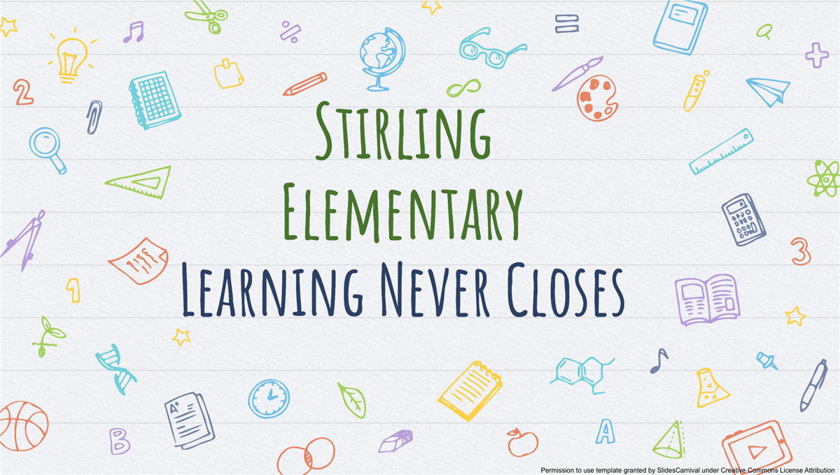 image of Stirling Learning Never Closes banner