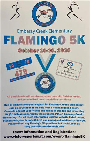 ECE Flamingo 5K Flyer