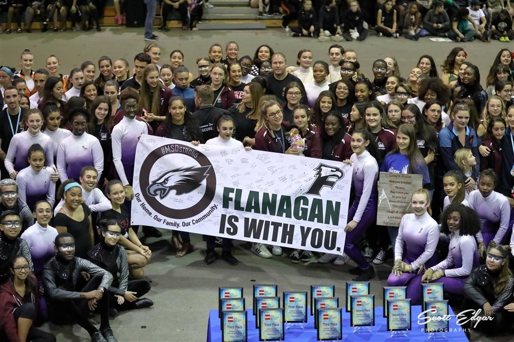 Flanagan Color Guard supports MSD Color Guard