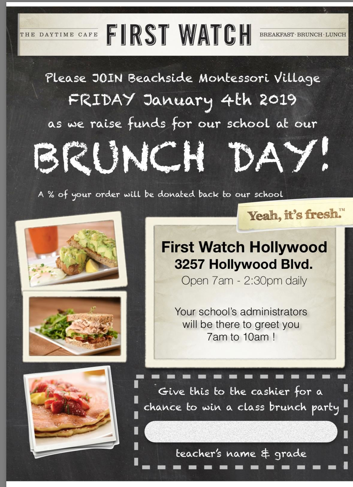 First Watch Brunch Day