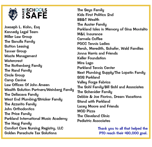 PTO Safety Donors
