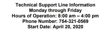 Technical Support Line Information