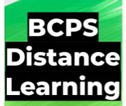 Green and Black Distance Learning Logo